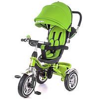 Детский велосипед трехколесный KidzMotion Tobi Pro Green зеленого цвета