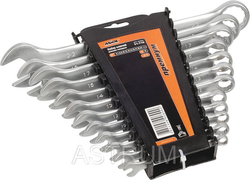 Набор ключей рожково-накидных Premium, 6 шт. (8-17 мм) Miol 51-700