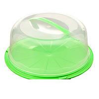 Тортовница R86489 пластик, круглая, с крышкой, 26.5*10см, кондитерский инвентарь, блюдо, столовая посуда, сервировочные блюда