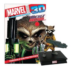 Мініатюрна фігура Герої Marvel 3D №16 Єнот Ракета (Centauria) масштаб 1:16