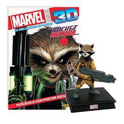 Миниатюрная фигура Герои Marvel 3D №16 Енот Ракета (Centauria) масштаб 1:16