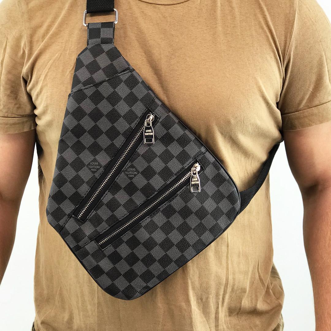 7ca0a39e974c Сумка кабура Louis Vuitton D3913 серо-черная - купить по лучшей цене ...