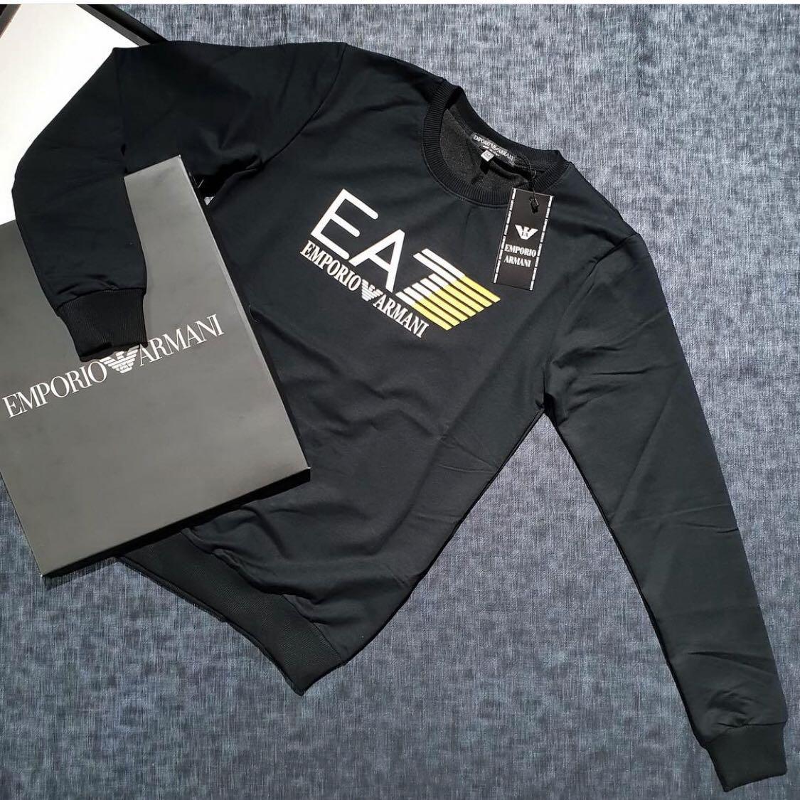 5d6d6b2c26b2 Свитшот мужской Emporio Armani EA7 D3929 черный - купить по лучшей ...
