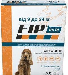 ФИП ФОРТЕ FIP FORTE капли от блох, клещей, вшей и комаров для собак весом  9-24 кг, 1 пипетка