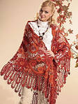 Модные вязаные шали- 2015