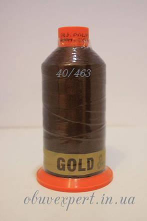 Швейная нить Gold Polydea 40 № 463, цв.  темно-коричневый, фото 2