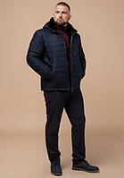 Braggart Status 17WM20 | Зимняя куртка с меховым воротником темно-синяя р. 48 50 52 54 56 58