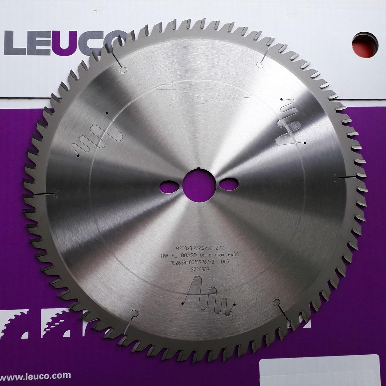 300x3,2x2,2x30 Z=72 Форматна дискова пила Leuco (чистовий розкрій і торцювання)