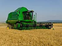 Услуги по уборке урожая зерновых комбайнами JOHN DEERE