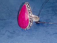 Рубин кольцо с натуральным рубином в серебре 17,0 размер, фото 1