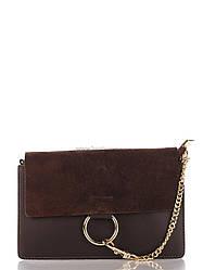 Кожаная сумка Genuine Leather Клатч Genuine Leather 1602_dark_brown Кожаный Коричневый