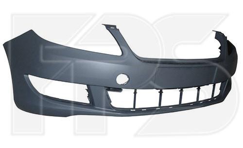Передний бампер Skoda Fabia II (10-14) без отв. омывателя фар (FPS)