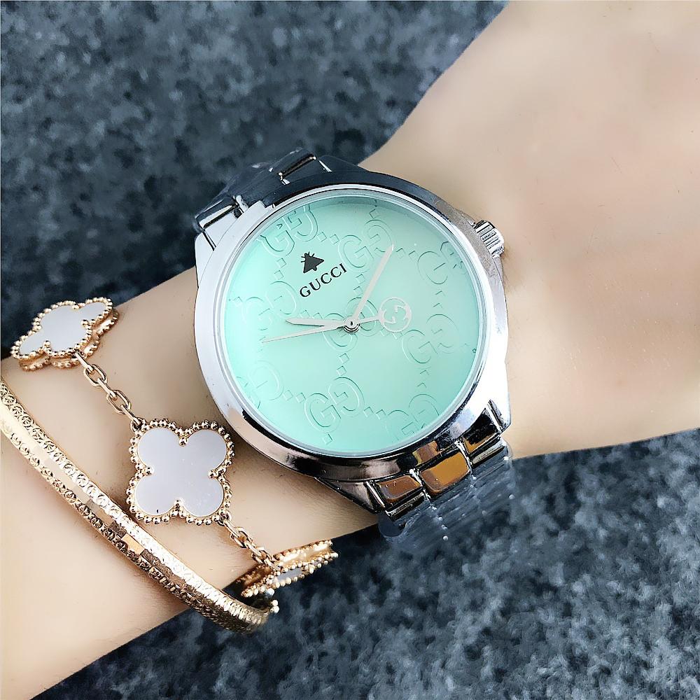 7b5b9625 Женские наручные часы Gucci 7161 GFS Silver Green, Часовая сталь -  Интернет-магазин