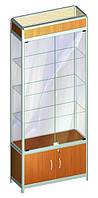 Витрина стеклянная из алюминиевого профиля Al-01