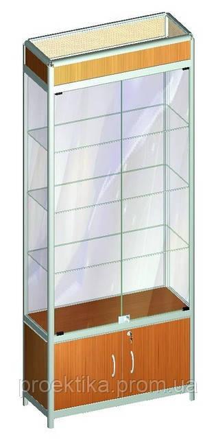 Витрина стеклянная из алюминиевого профиля Al-01, фото 1