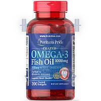 Puritan's Pride Omega-3 Fish Oil Coated 1000 mg (300 mg Active Omega-3) омега-3 жирные кислоты омега 3