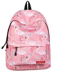 Рюкзак молодежный розовый с фламинго Paradise