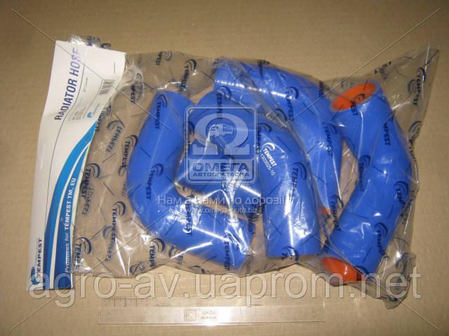 Патрубок радиатора (TP.1328) ГАЗ 3302 (дв.405) (компл. 5 шт. силикон) (TEMPEST)