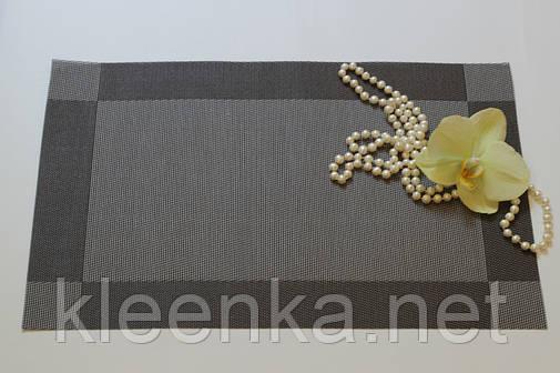 Подставка под тарелки Каемка 30см*45см, серветка вінілова під столові прибори, фото 2