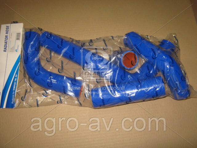 Патрубок радиатора (TP.1325) ГАЗ 3302 (дв.4215) (компл. 5шт. силикон) (TEMPEST)