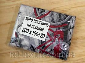 Простынь на резинке с рисунком 160х200+20, фото 3