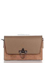 Кожаная сумка Genuine Leather Клатч Genuine Leather 1638_taupe Кожаный Таупе