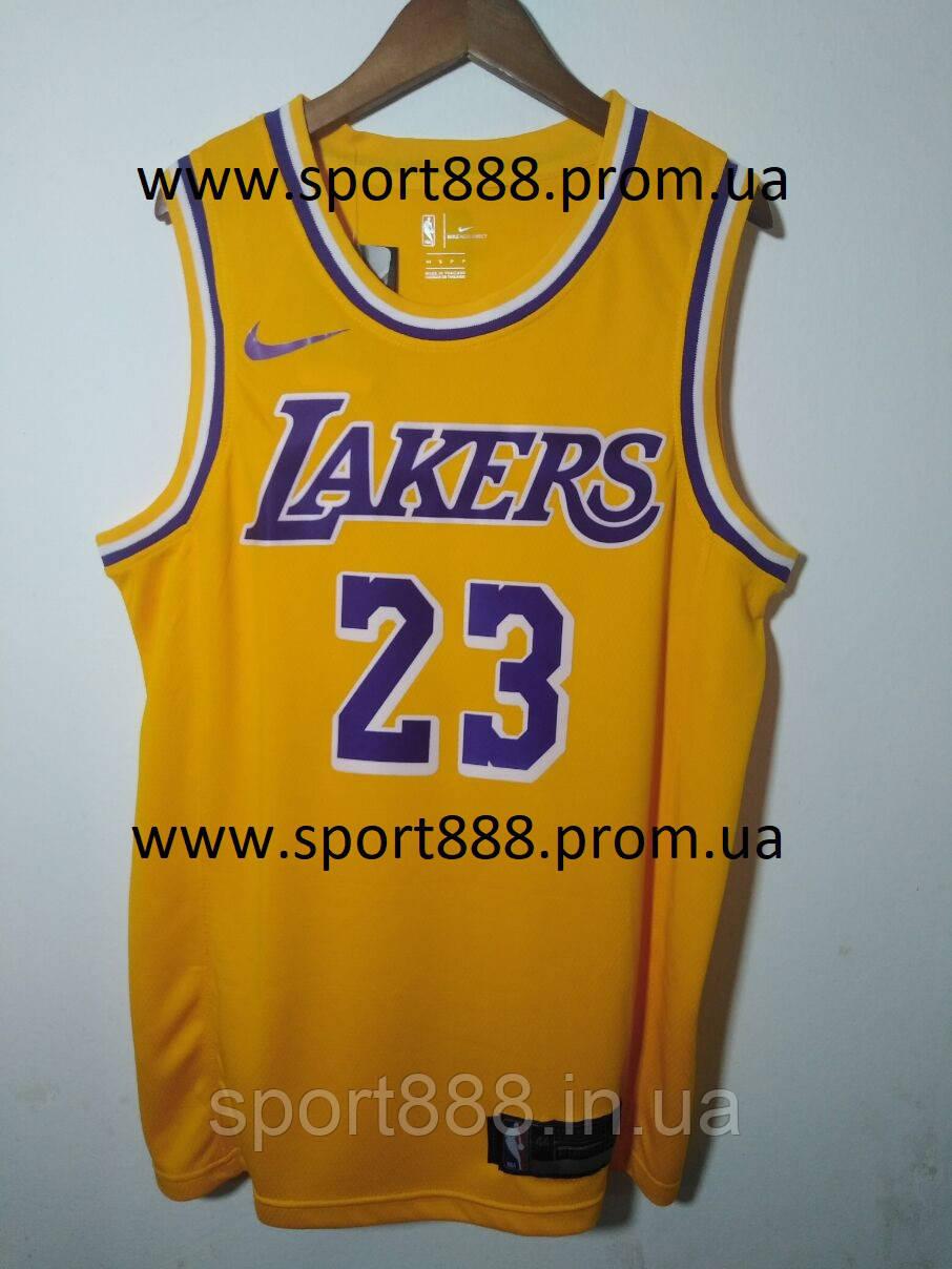 ba463219 Hot stamp Мужская майка Lebron James №23 Nike Los Angeles Lakers NBA -  sport888 в
