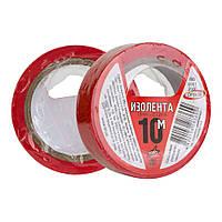 Изоляционная лента ПВХ ORBITA красная 10м (10шт/уп)