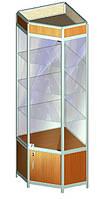 Витрина стеклянная угловая Al-04, фото 1