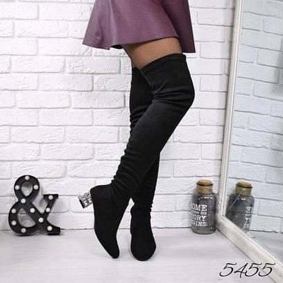 4291cd811889 Ботфорты сапоги Chanel черные 5455, зимняя обувь  продажа, цена в ...