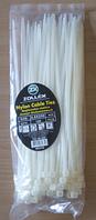 Хомут пластиковый 4,8*250 (в упак.100 шт) белый  Zollex