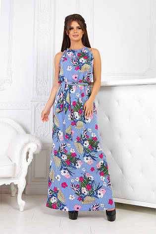 831d4969293 Женское длинное платье сарафан макси в цветочный принт  продажа ...