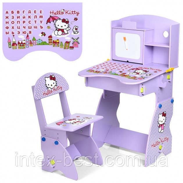 Детская парта Bambi (Metr+) М 0324-9 Hello Kitty со стульчиком, регулируемая