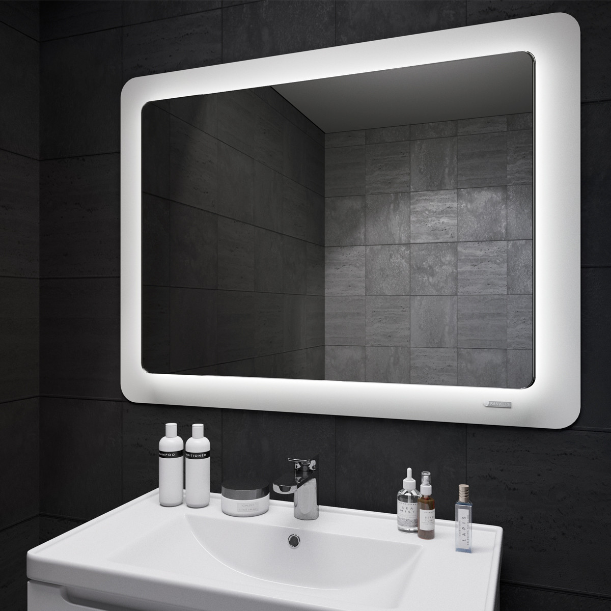 Зеркало Ultra Cosmo Sanwerk 98*83, белое