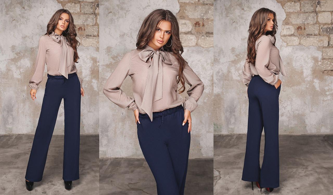 0ed2553615b Женская деловая блуза с бантом 44-46