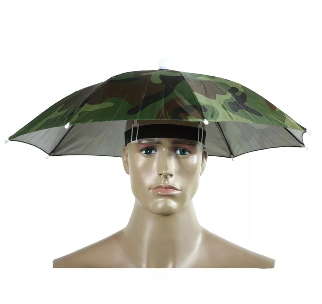 Зонт на голову для рыбалки, дачи, пикника (камуфляж)