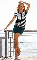 Женское пляжное платье в полоску Ora 400116/3 42(S) Зеленый Ora 400116/3