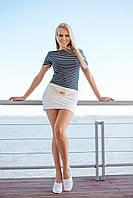 Летнее платье с полосками Ora 500171/1 42(S) Синий-Белый Ora 500171/1