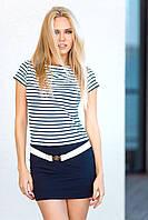 Короткое пляжное платье с поясом Ora 500171/2 44(M) Полосатый Ora 500171/2