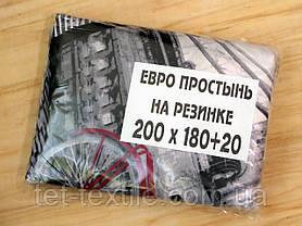 Простынь на резинке с рисунком 180х200+20, фото 3
