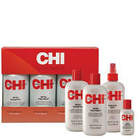 Набор Chi Infra (шампунь 350 мл + кондиционер 350 мл + Keratin Mist 355 мл+ шелк 59 мл)
