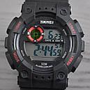 Часы Skmei Мод.1101, черный-красный, в металлическом боксе, фото 2