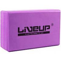 LiveUp Блок для йоги LiveUp EVA BRICK (розовый)
