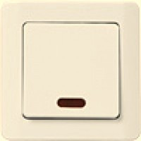 ВС10-1-1-ГКм Выключатель 1кл с индикацией (кремовый)