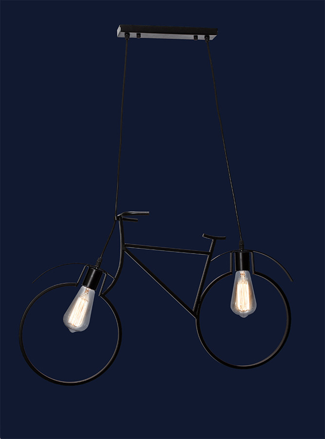 Люстра велосипед подвесной 756PR7021-2 BK