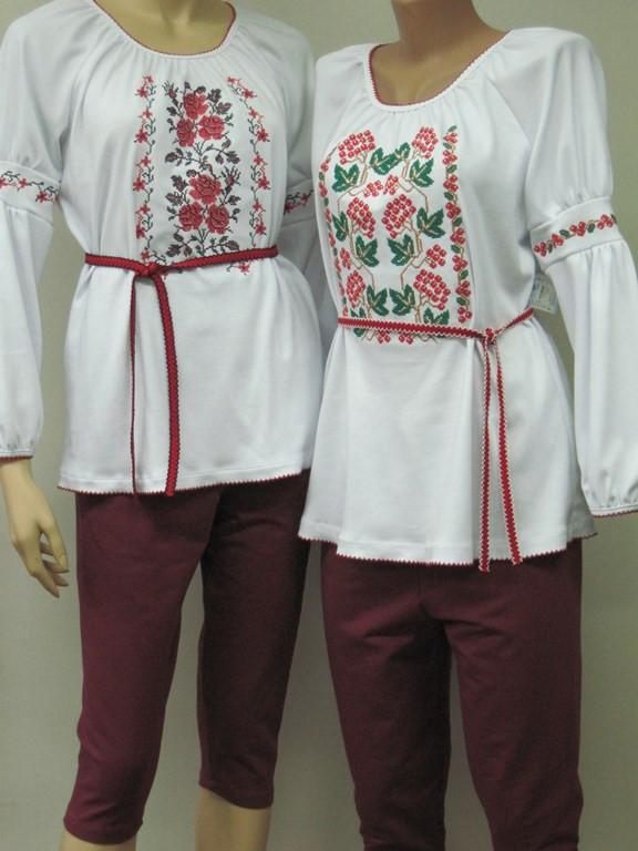 Женская вышиванка туника с поясом Стефания Размер 44 - 46