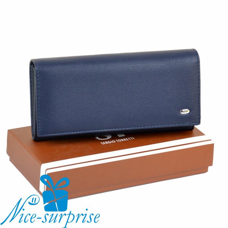 c143932d11f1 Женский кошелёк из кожзама Sergio Torretti W501 dark-blue - Купить ...