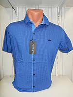 Рубашка мужская Paul Smith короткий рукав, стрейч, заклёпки узор №18.08.2018 002\ купить рубашку