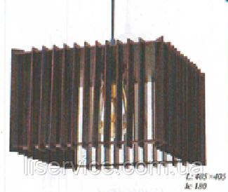 """Светильник Loft ТМ """"ДЕКОРА""""  НББ 1*60ВТ, Е27, 405*405, h 180, номер 13410 венге, фото 2"""