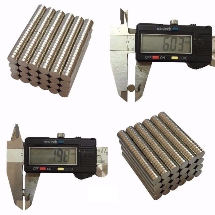 Неодимовый Магнит 6х2 Шайба N50 18650 Мощный